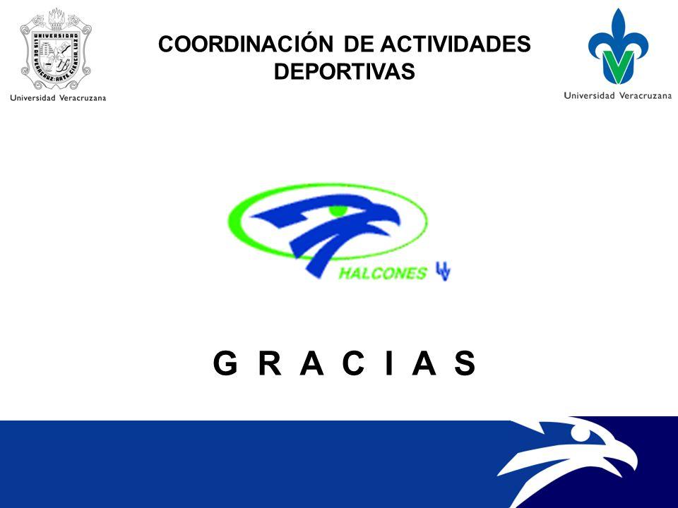 COORDINACIÓN DE ACTIVIDADES DEPORTIVAS G R A C I A S