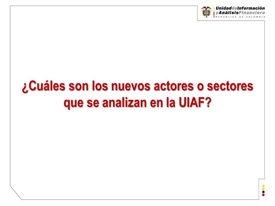 Unidad de Información y Análisis Financiero República de Colombia Nuevos actores (2) Metales y Piedras Preciosas Recomendaciones No.