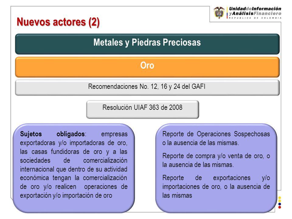 Unidad de Información y Análisis Financiero República de Colombia Nuevos actores (3) Factoring Ley 1231 de 2008.