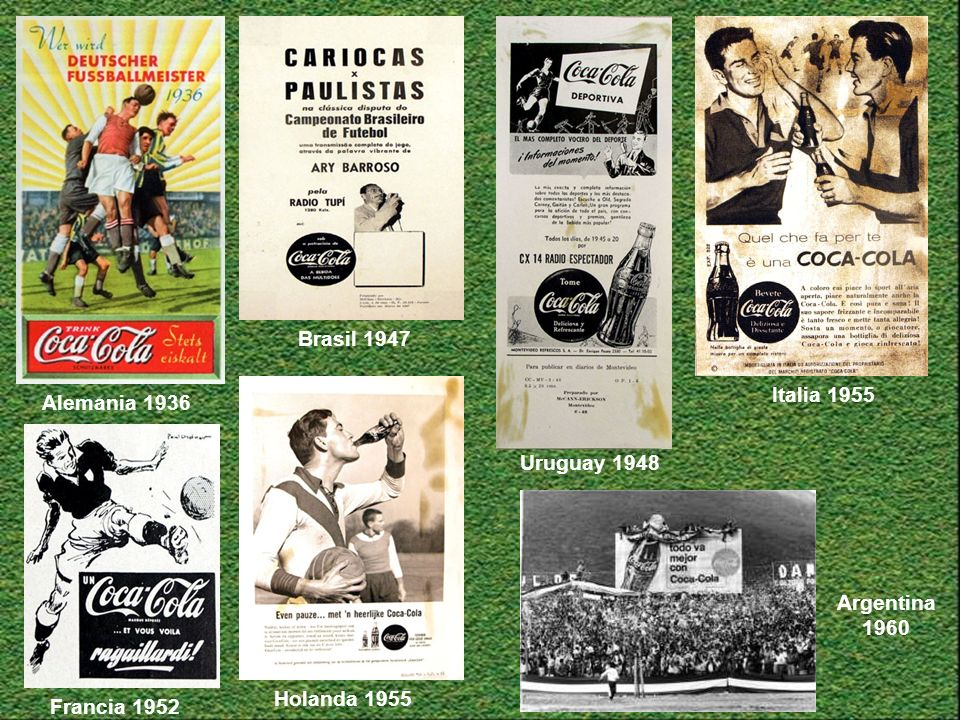 Alemania 1936 Brasil 1947 Uruguay 1948 Italia 1955 Holanda 1955 Argentina 1960 Francia 1952