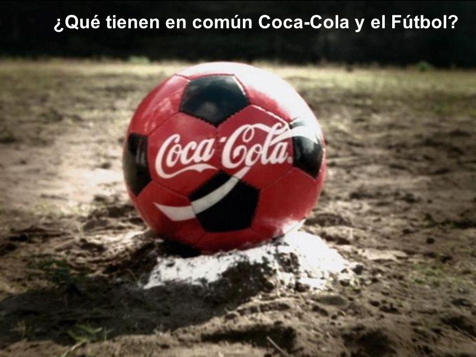 ¿Por qué Coca-Cola apoya el Fútbol? Optimismo Amistad Compartir Felicidad GRACIAS