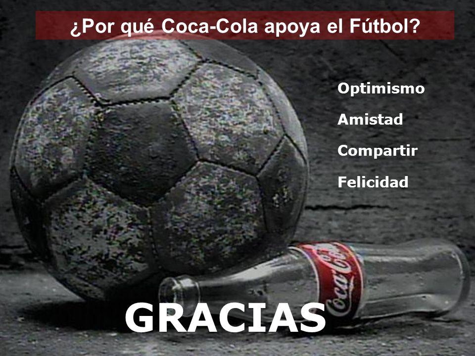 ¿Por qué Coca-Cola apoya el Fútbol Optimismo Amistad Compartir Felicidad GRACIAS