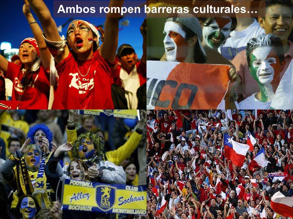 Ambos rompen barreras culturales…