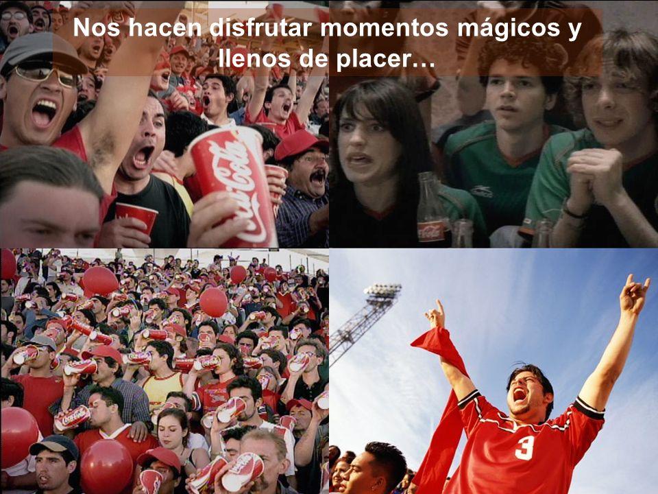 El Fútbol es una excelente plataforma de conexión para expresar los valores de Coca-Cola: Optimismo Amistad Compartir Felicidad