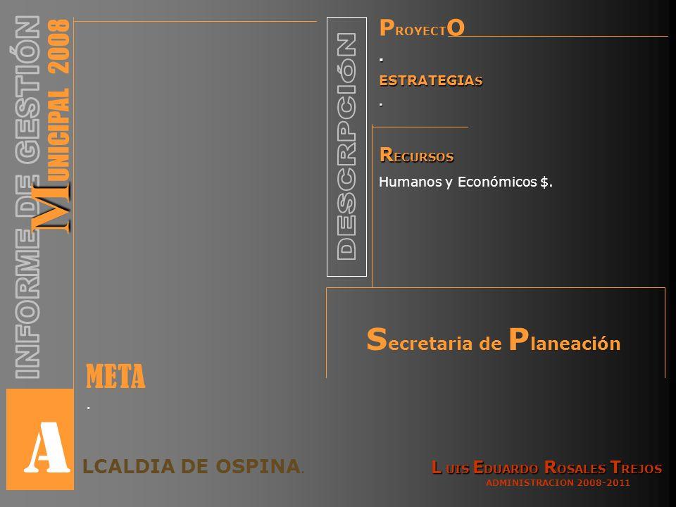 P ROYECT O. ESTRATEGIA S. R ECURSOS Humanos y Económicos $.