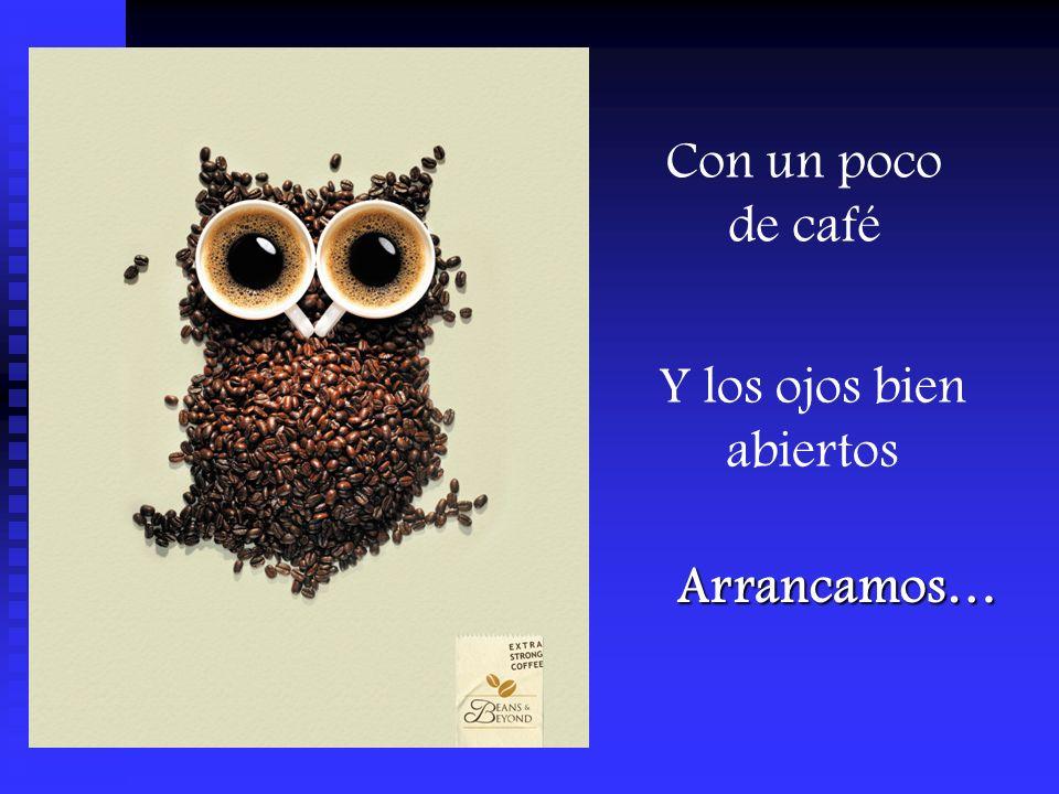 Con un poco de café Y los ojos bien abiertos Arrancamos…