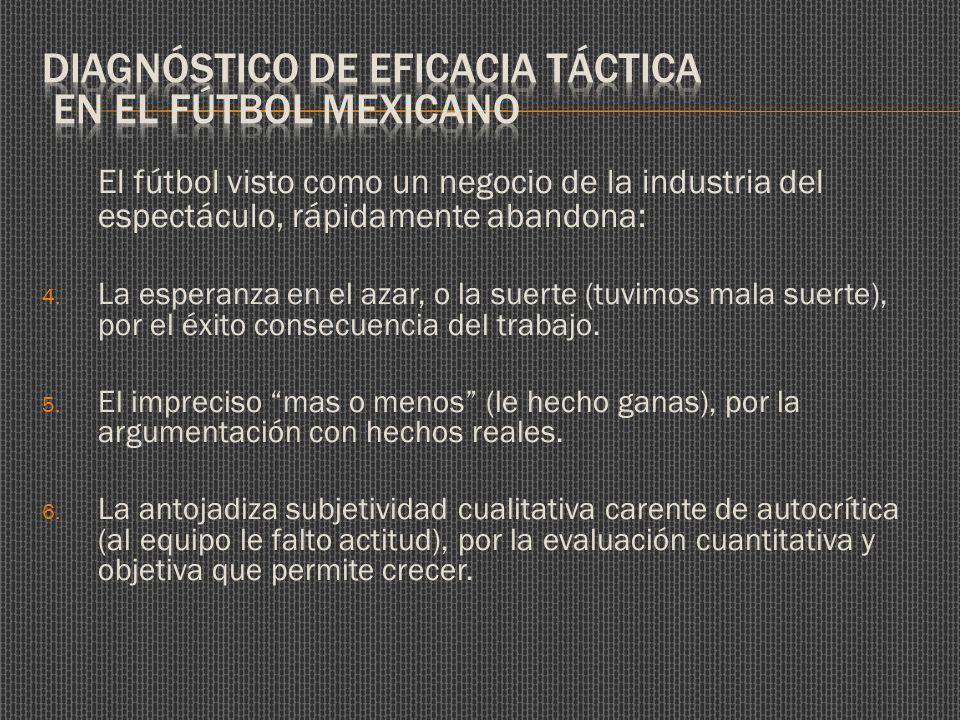 El fútbol visto como un negocio de la industria del espectáculo, rápidamente abandona: 4.