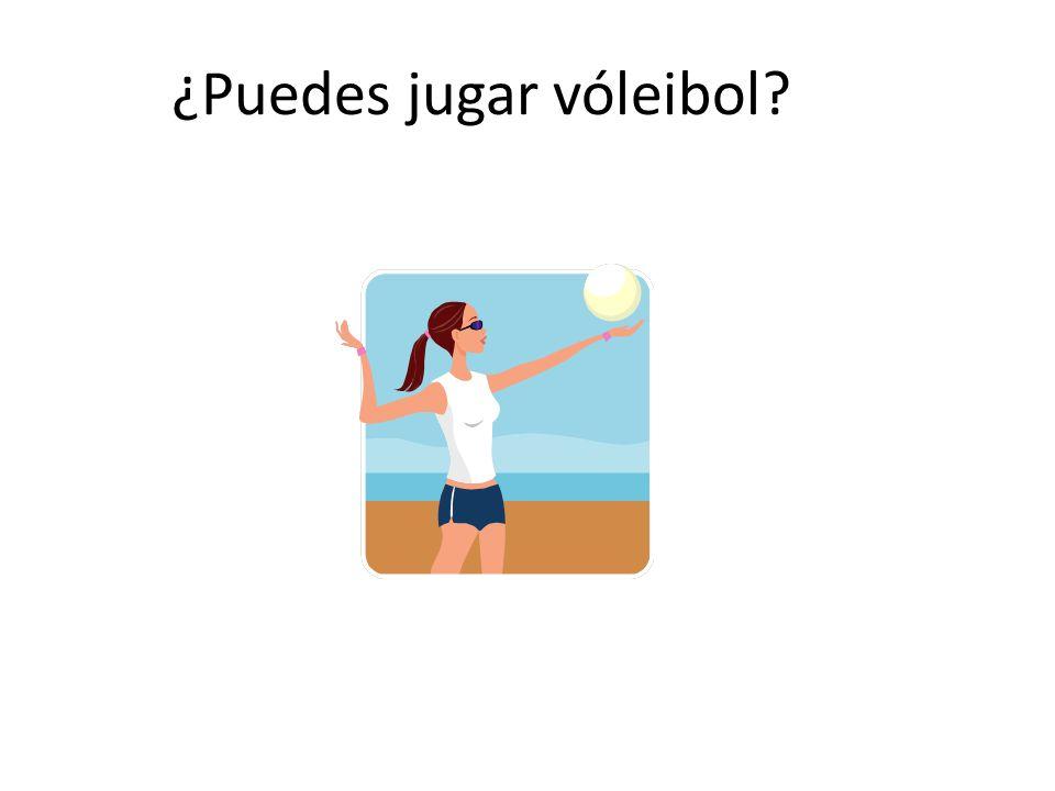 ¿Puedes jugar vóleibol