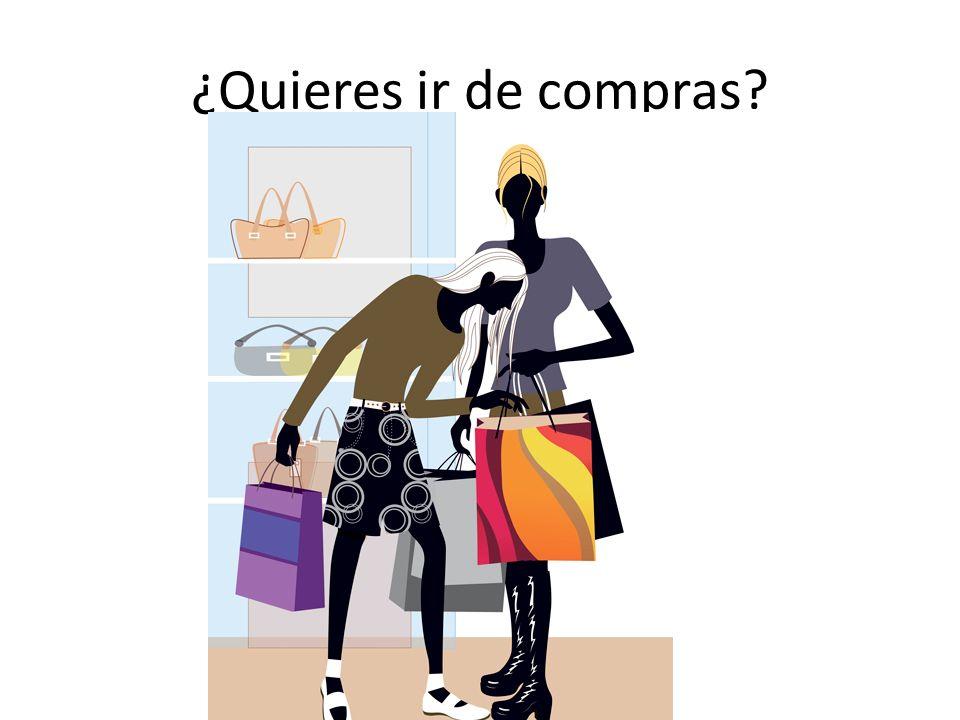 ¿Quieres ir de compras
