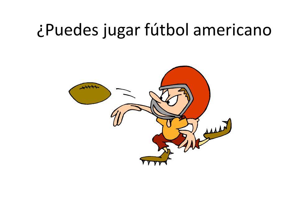 ¿Puedes jugar fútbol americano