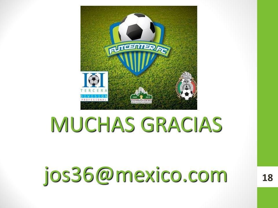MUCHAS GRACIAS jos36@mexico.com 18