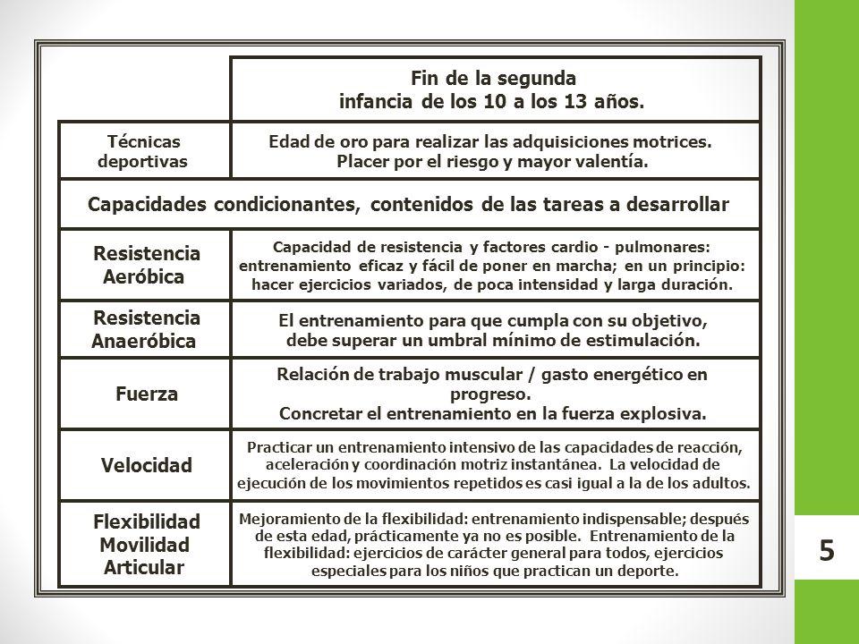 16 Contenidos por categoría CategoríaEdadContenidos 1999 2000 13-14 años Táctica.