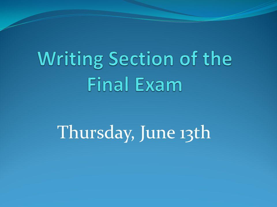 Thursday, June 13th