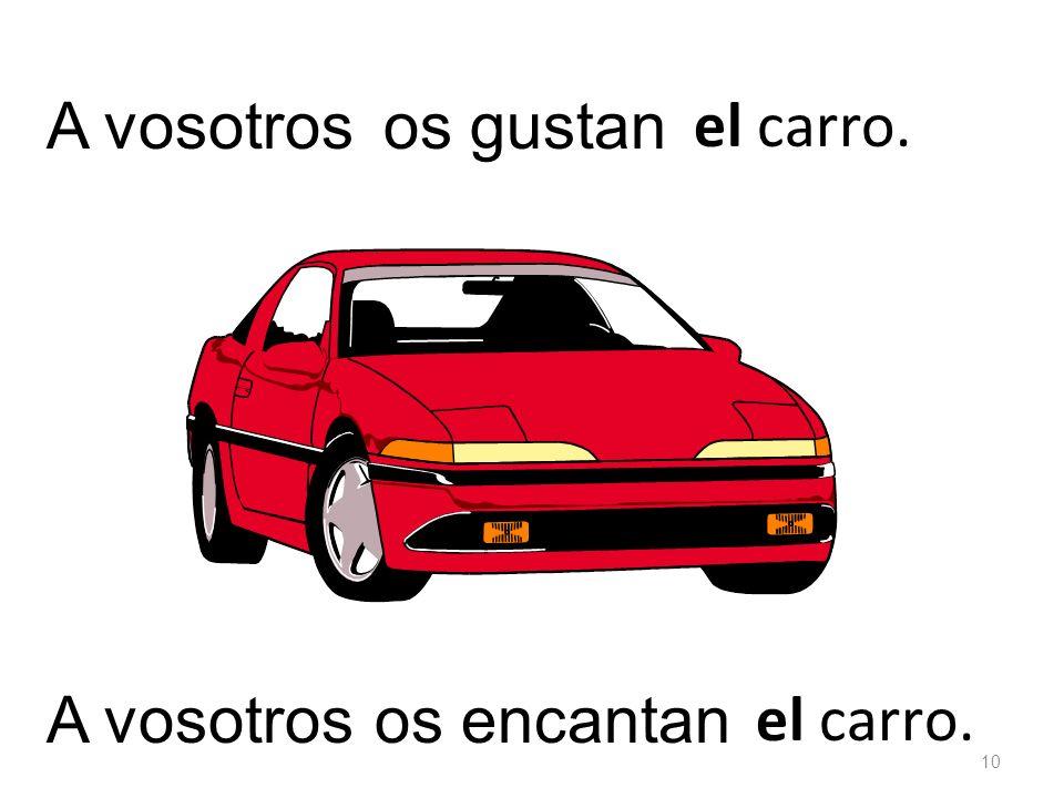 el carro. os gustanA vosotros el carro. os encantan 10