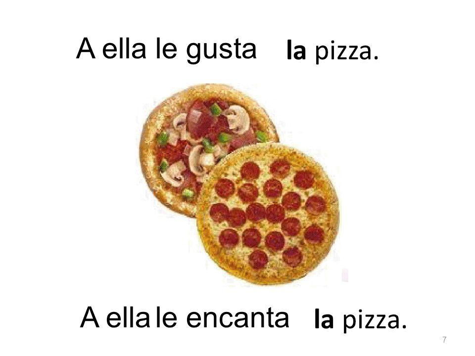 la pizza. le gustaA ella la pizza. le encanta 7