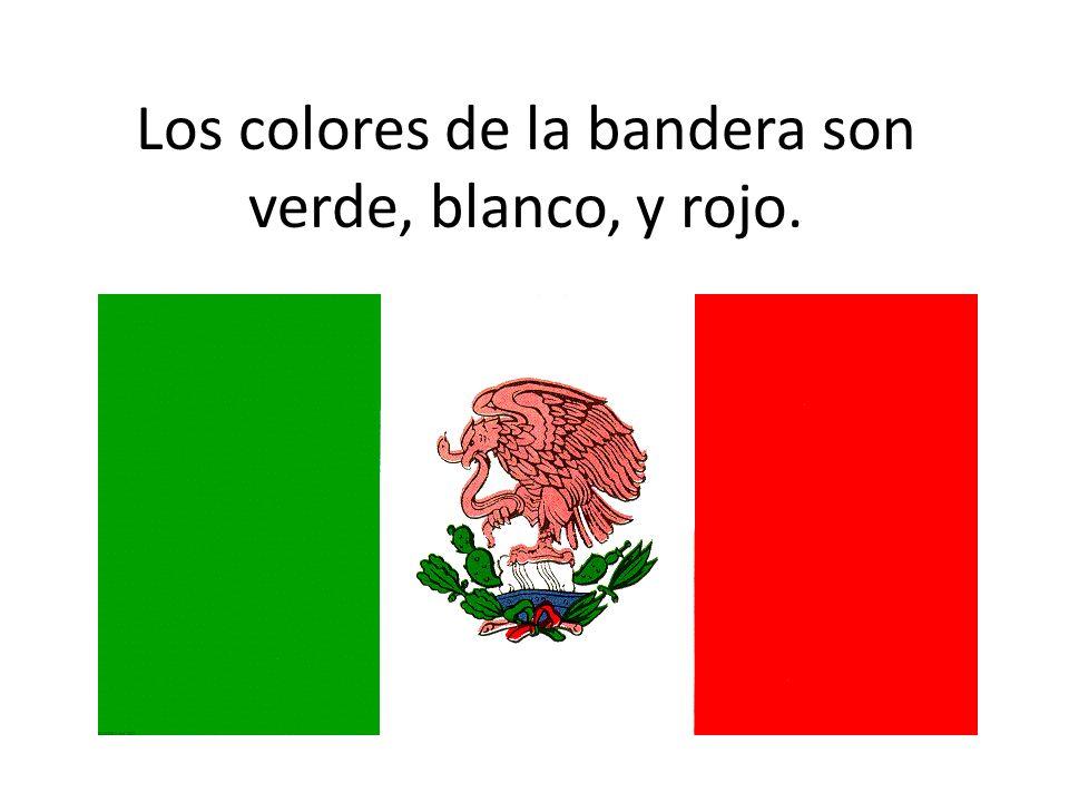 Los colores de la bandera son verde, blanco, y rojo.
