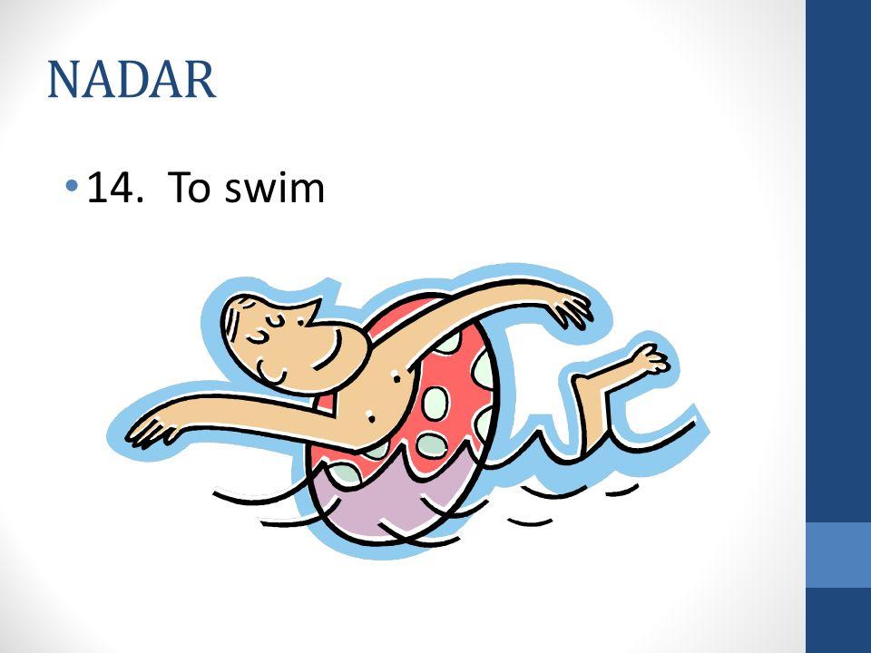 NADAR 14. To swim