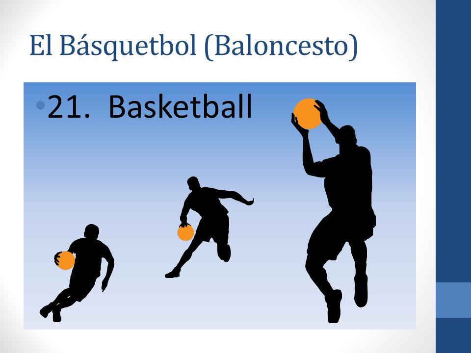 El Básquetbol (Baloncesto) 21. Basketball