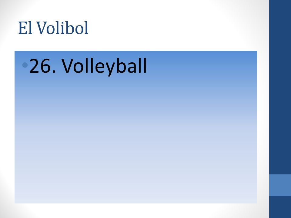El Volibol 26. Volleyball