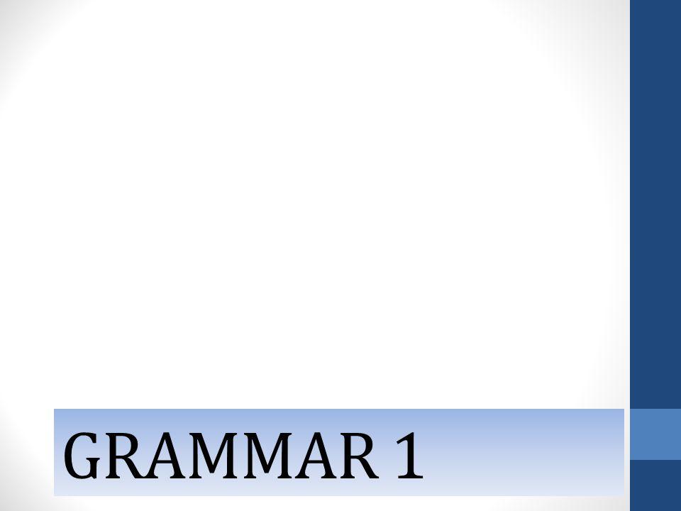 GRAMMAR 1