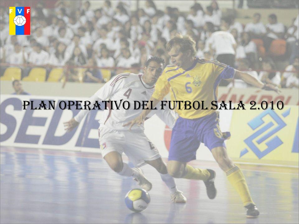 PLAN OPERATIVO DEL FUTBOL SALA 2.010