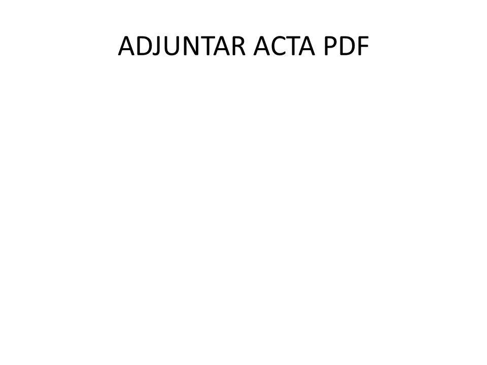 ADJUNTAR ACTA PDF