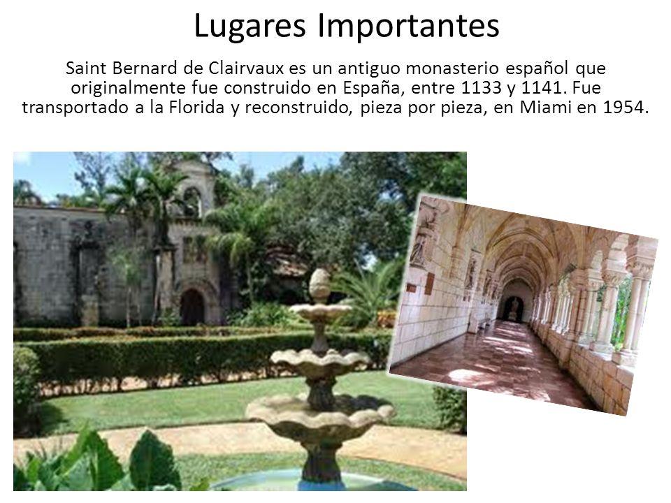 Lugares Importantes Saint Bernard de Clairvaux es un antiguo monasterio español que originalmente fue construido en España, entre 1133 y 1141.