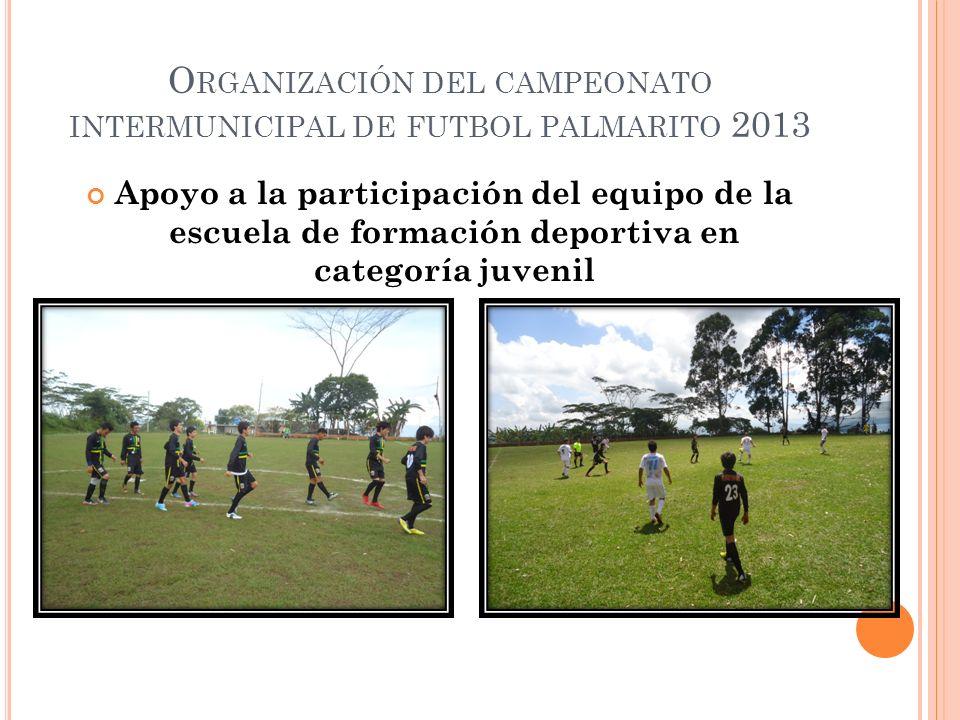 Apoyo a la participación del equipo de la escuela de formación deportiva en categoría juvenil