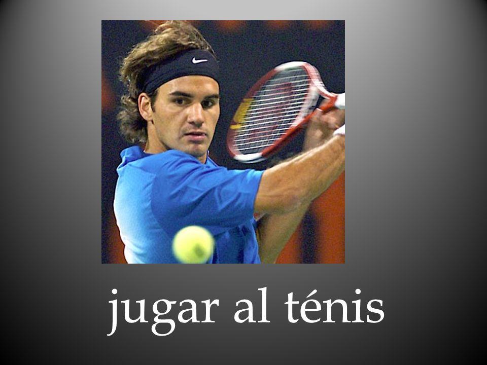 jugar al ténis
