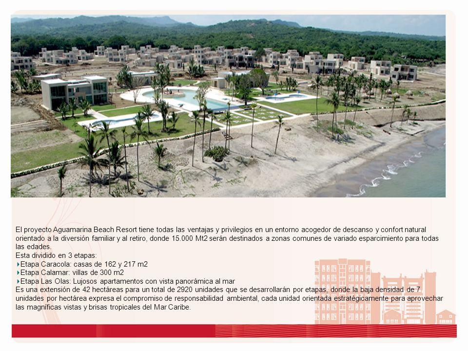 El proyecto cuenta con: 550 Mts.de frente de playa Camellón frente al mar de 350 Mts.