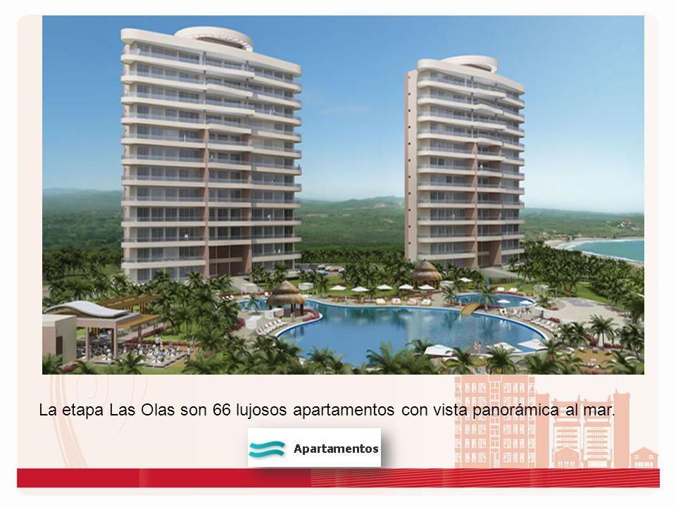 La etapa Las Olas son 66 lujosos apartamentos con vista panorámica al mar.