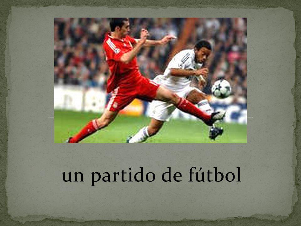 un partido de fútbol