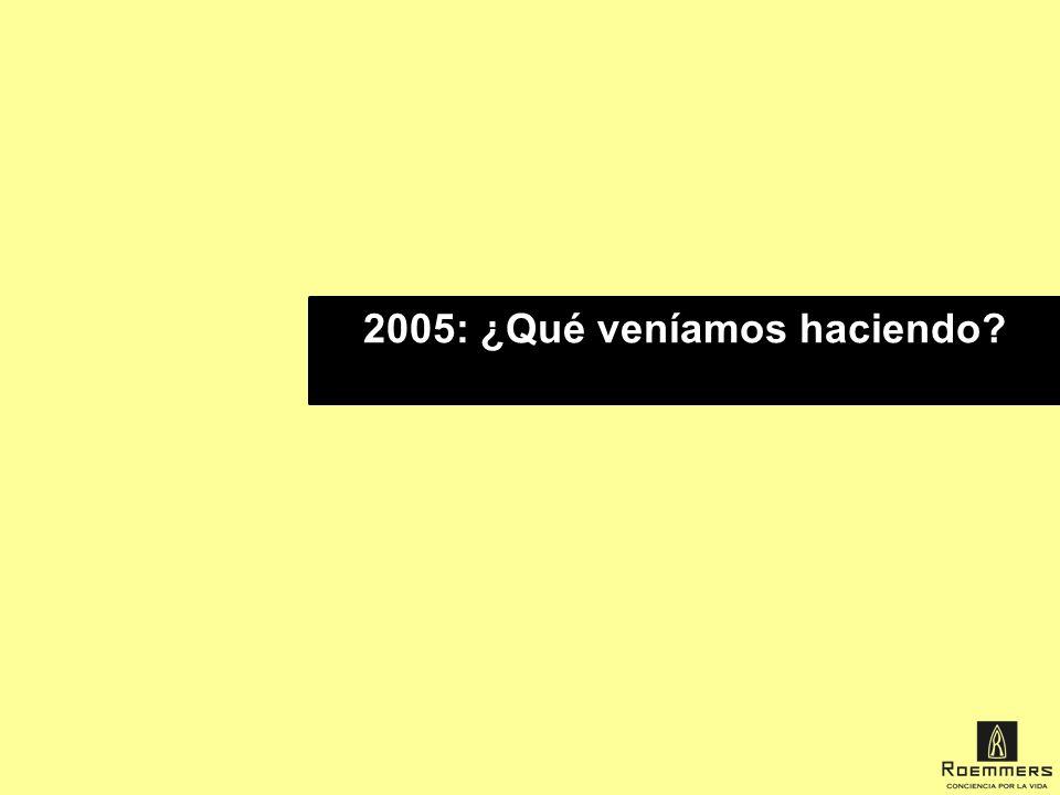 2005: ¿Qué veníamos haciendo?