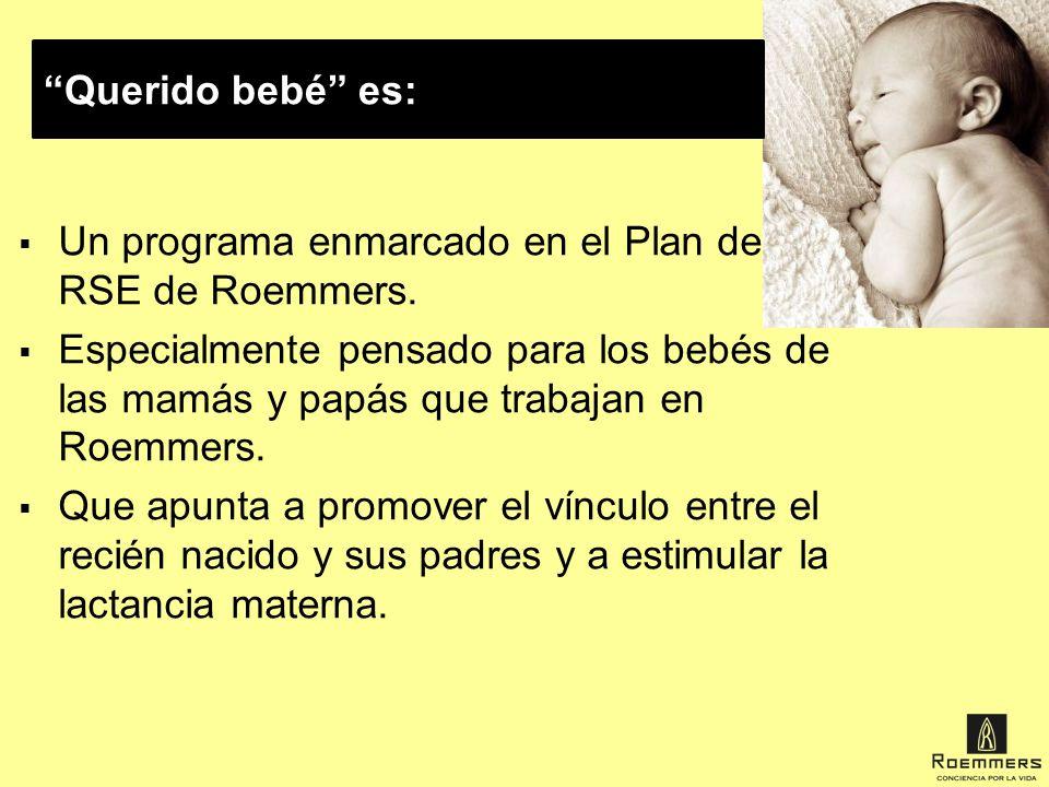 Querido bebé es: Un programa enmarcado en el Plan de RSE de Roemmers.