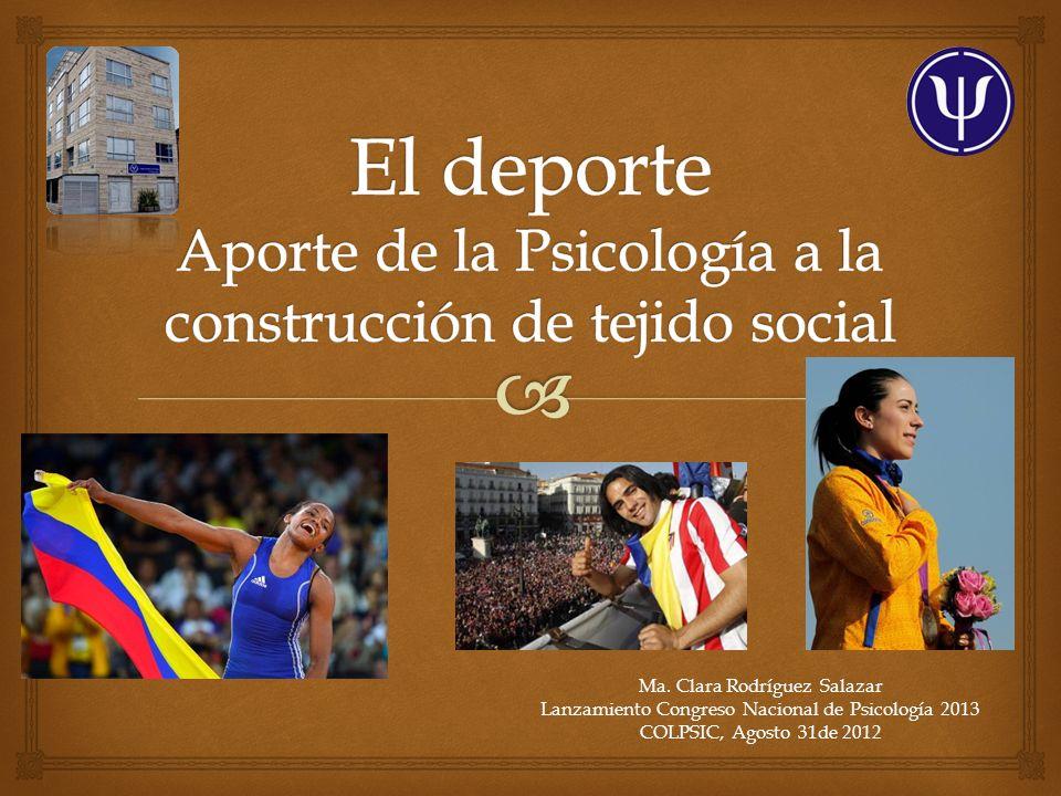 Ma. Clara Rodríguez Salazar Lanzamiento Congreso Nacional de Psicología 2013 COLPSIC, Agosto 31de 2012