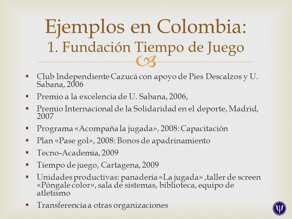 Fotos tomadas del libro: Fundación Tiempo de Juego (2011). Un gol a la violencia. Bogotá: OIM.