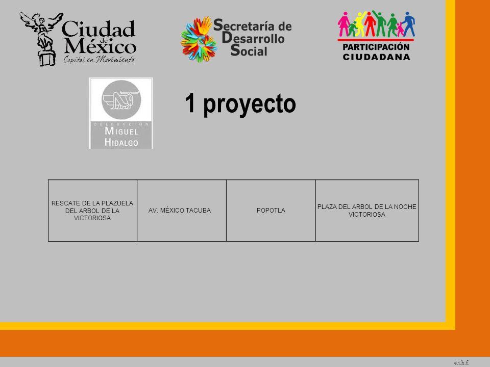 e.i.h.f. 1 proyecto RESCATE DE LA PLAZUELA DEL ARBOL DE LA VICTORIOSA AV. MÉXICO TACUBA POPOTLA PLAZA DEL ARBOL DE LA NOCHE VICTORIOSA