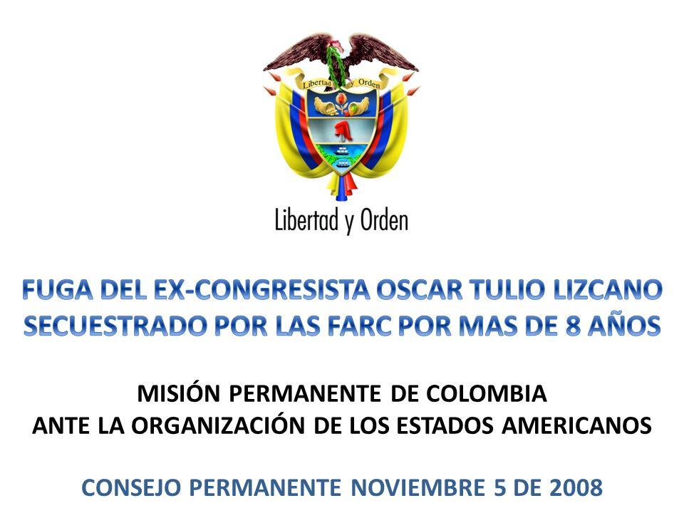 MISIÓN PERMANENTE DE COLOMBIA ANTE LA ORGANIZACIÓN DE LOS ESTADOS AMERICANOS CONSEJO PERMANENTE NOVIEMBRE 5 DE 2008 1