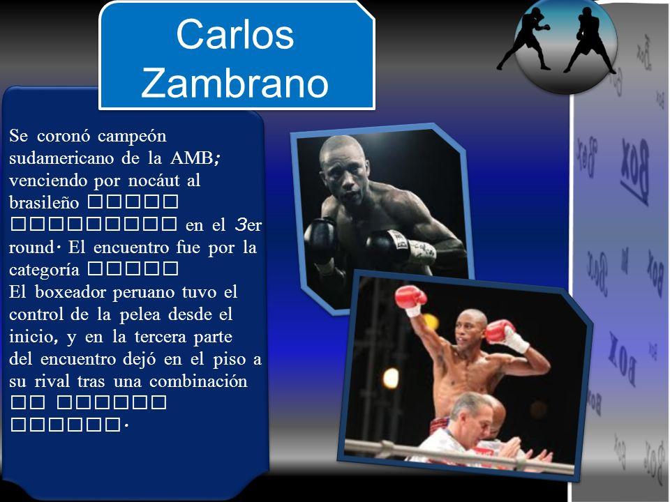 Se coronó campeón sudamericano de la AMB ; venciendo por noc á ut al brasileño Darli Goncalvez en el 3 er round. El encuentro fue por la categoría plu