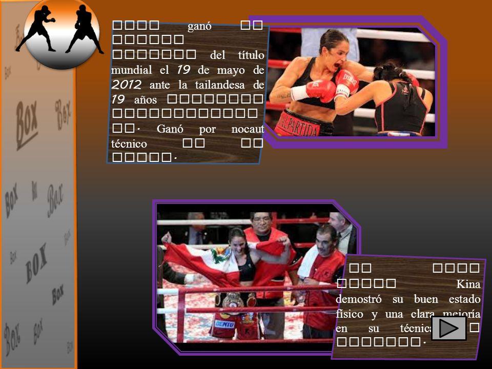 En esta pelea Kina demostró su buen estado físico y una clara mejoría en su técnica de combate. Kina ganó su quinta defensa del título mundial el 19 d