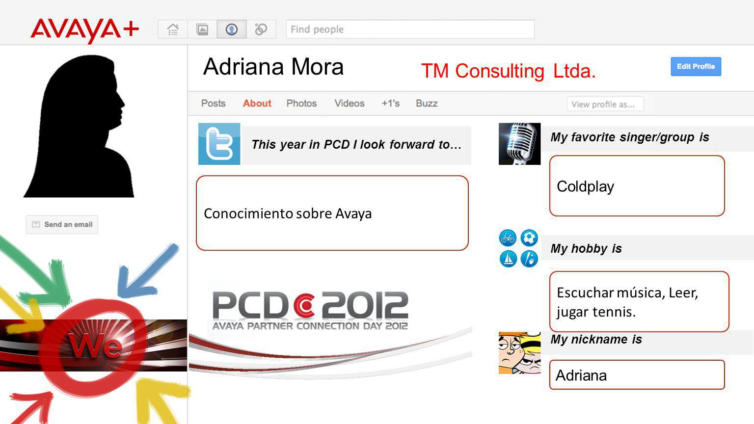 Adriana Mora This year in PCD I look forward to… TM Consulting Ltda.