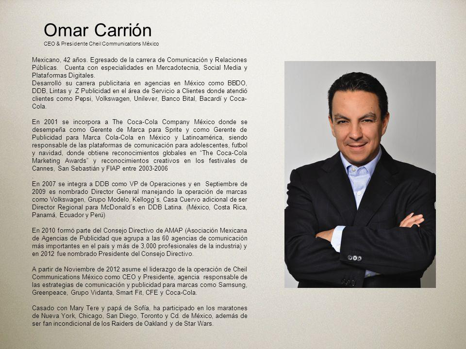 Omar is 41 years-old Mexican with a bachelor degree in Communications & PR and a college degree in Consumer Marketing & Social Media.