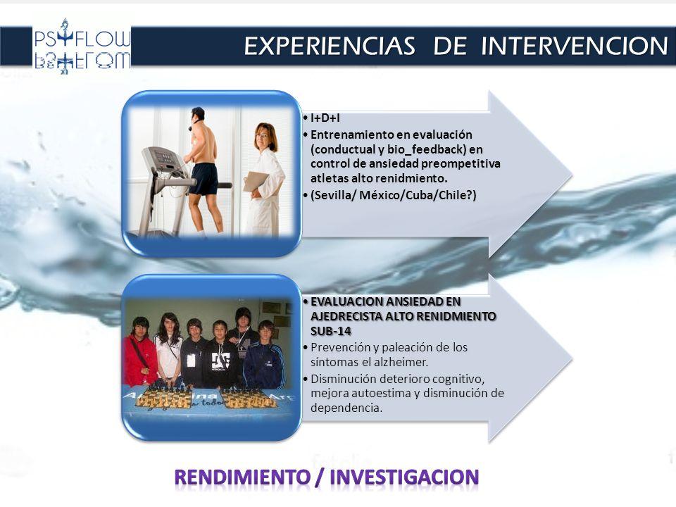 I+D+I Entrenamiento en evaluación (conductual y bio_feedback) en control de ansiedad preompetitiva atletas alto renidmiento. (Sevilla/ México/Cuba/Chi