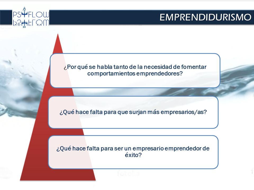 ¿ Por qué se habla tanto de la necesidad de fomentar comportamientos emprendedores? ¿Qué hace falta para que surjan más empresarios/as? ¿Qué hace falt