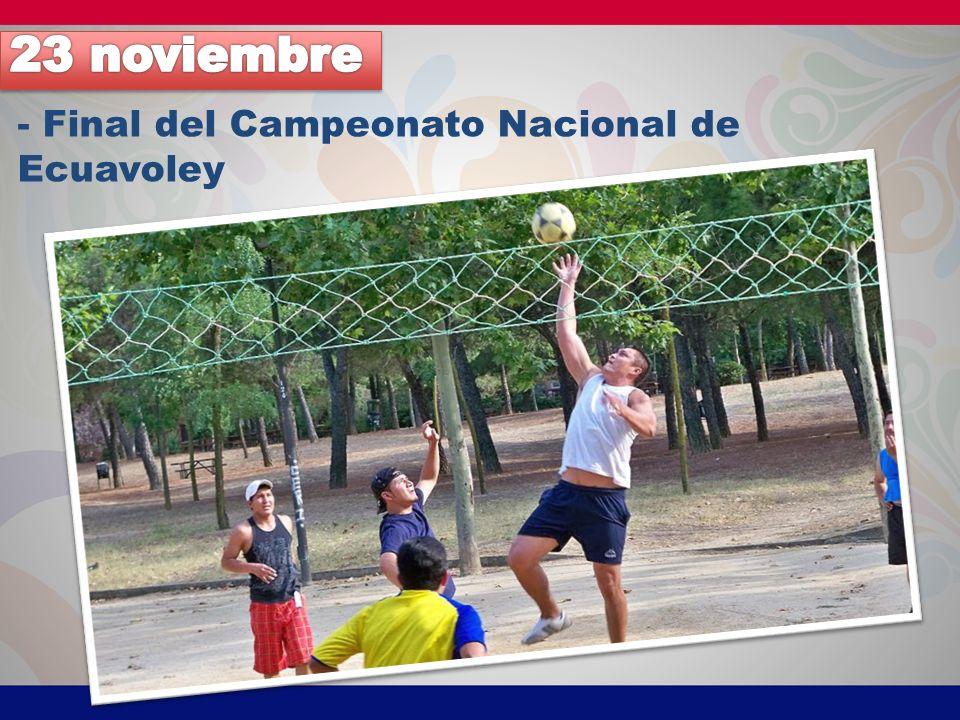 - Final del Campeonato Nacional de Ecuavoley
