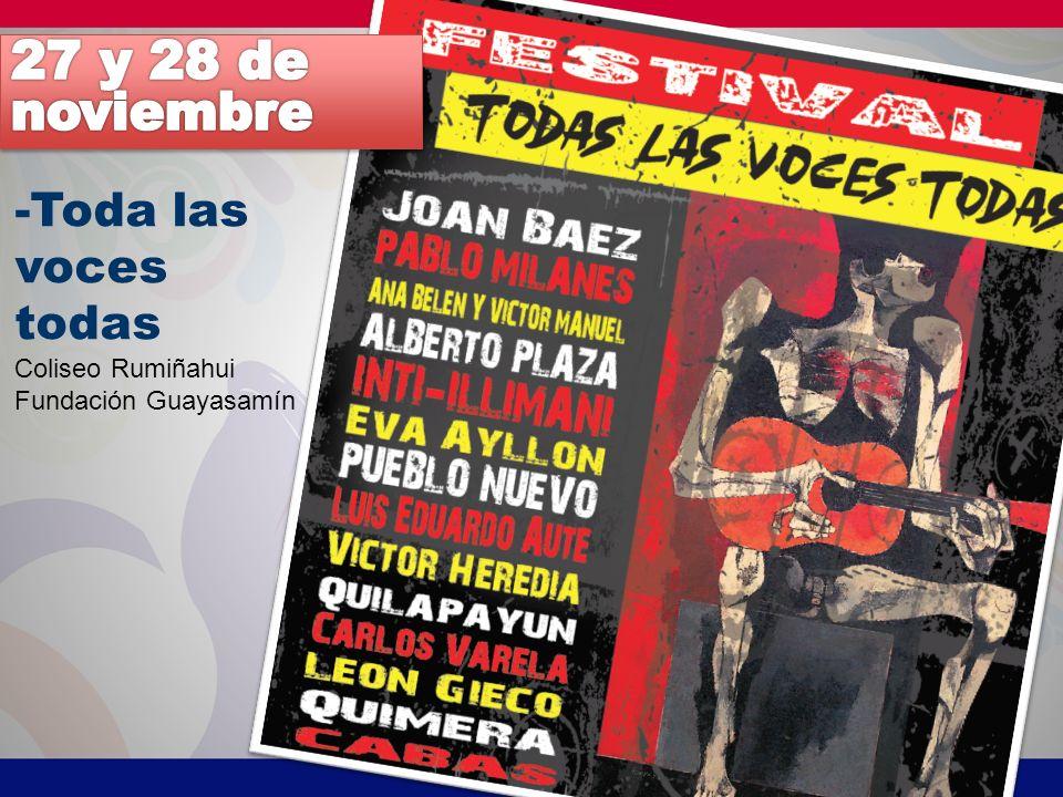 -Toda las voces todas Coliseo Rumiñahui Fundación Guayasamín