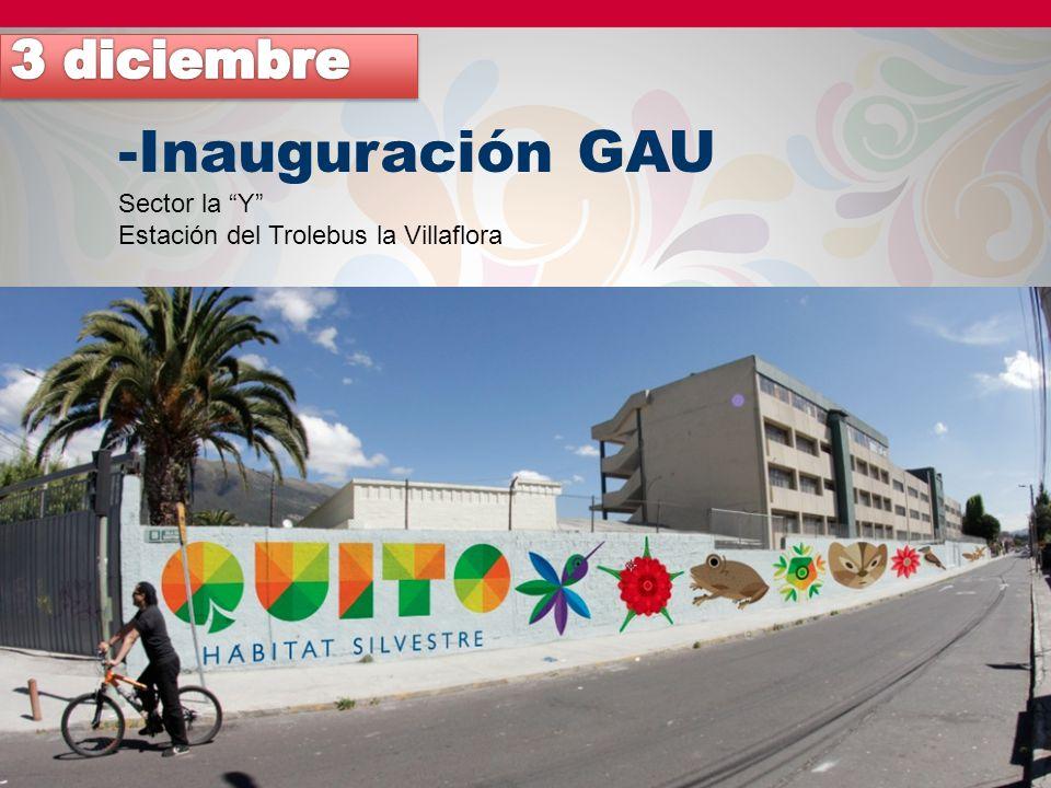 -Inauguración GAU Sector la Y Estación del Trolebus la Villaflora