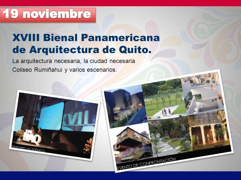 XVIII Bienal Panamericana de Arquitectura de Quito.