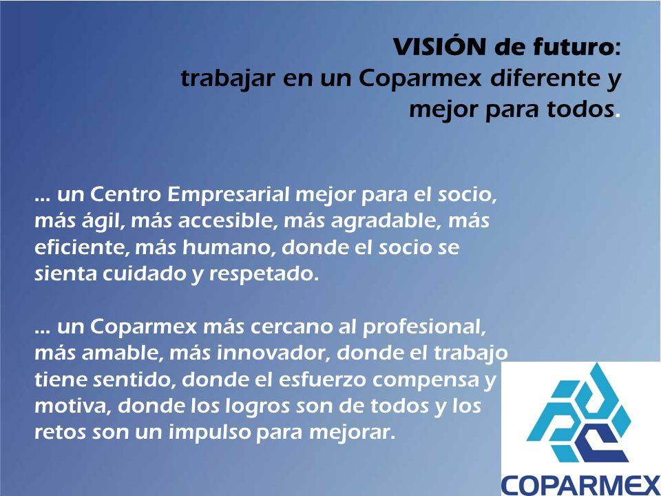 ... un Centro Empresarial mejor para el socio, más ágil, más accesible, más agradable, más eficiente, más humano, donde el socio se sienta cuidado y r