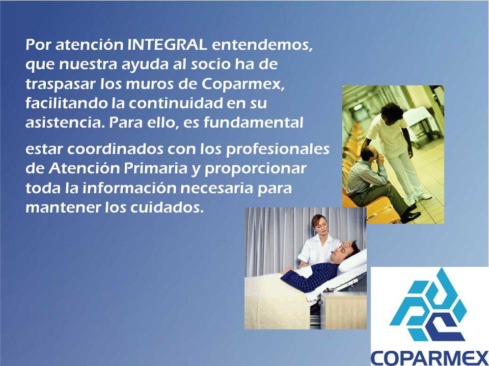 Por atención INTEGRAL entendemos, que nuestra ayuda al socio ha de traspasar los muros de Coparmex, facilitando la continuidad en su asistencia. Para